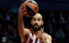 """""""Olympiakos"""" tik po atkaklios kovos nugalėjo """"Darussafaka"""" ekipą"""