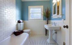 5 medžiagos, kurių tikrai nereikėtų naudoti vonios kambario įrengimui