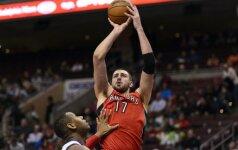 """NBA lygos mače """"Raptors"""" svečiuose nugalėjo Filadelfijos krepšininkus"""