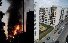 Londone sudegus daugiabučiui susizgribta ir Lietuvoje: statybininkų gudravimas gali turėti tragiškų pasekmių