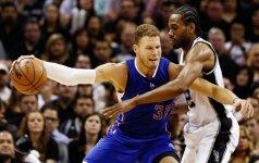"""Intriga: """"Clippers"""" ir """"Spurs"""" akistatoje prireiks lemiamų rungtynių"""