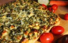 Savaitgalio pietums: brokolių ir bulvių pyragas su fetos sūriu