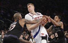 """""""Knicks"""" pralaimėjo vieniems lygos autsaiderių, M. Kuzminskas žaidė trumpai, bet naudingai"""