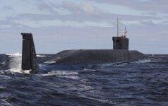 Rusijos povandeninis atomlaivis paleido dvi strategines balistines raketas