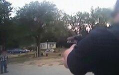 Kodėl JAV pareigūnams yra būtini vaizdo registratoriai: šūviai į peilių ginkluotą vyrą