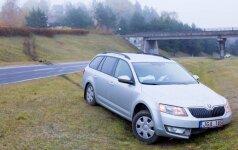 """Per avariją su """"Škoda"""" nulėkė nuo šlaito lyg kaskadininkas"""