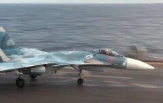 Viduržemio jūroje sudužo dar vienas Rusijos naikintuvas