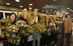 Į Lietuvą grįžo pasaulio krepšinio trijulių čempionės