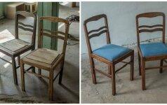 PRIEŠ ir PO: kaip atnaujinti kėdę