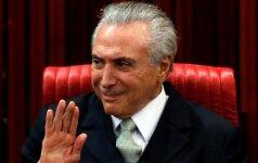Brazilijoje prisaikdintas naujasis prezidentas M. Temeras