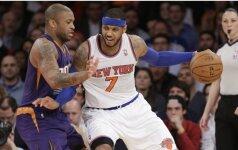 NBA praėjusios savaitės konferencijų laureatais tapo C. Anthony ir D. Cousinsas