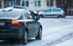 Eismo sąlygas Lietuvoje sunkina snygis ir lijundra