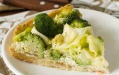 Kišas su brokoliais ir pelėsiniu sūriu