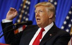 D. Trumpas liepia JAV pasitraukti iš Ramiojo vandenyno partnerystės