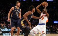 NBA: D. Motiejūnas vėl pataikė iš toli ir laimėjo Niujorke, D. Sabonis Čikagoje pasižymėjo dvitaškiu su pražanga