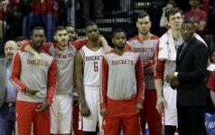 "L. Aldridge'o nesustabdęs ""Rockets"" klubas po pratęsimo krito namuose"