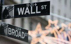 JAV akcijų rinka auga, brangsta bankų akcijos