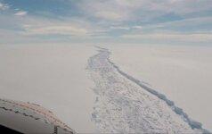 Nuo ledyno Antarktidoje gali atskilti Velso dydžio ledkalnis