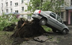 Uragano Maskvoje aukų padaugėjo iki 16