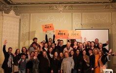 """Antradienį Kultūros ministerijoje buvo įteiktos renginio """"Pin diena: kultūros maratonas """"Kablys"""" premijos"""