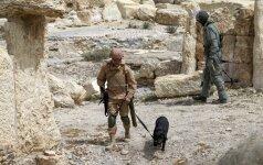 """Rusija tvirtina padėjusi atremti """"Islamo valstybės"""" puolimą Palmyroje"""