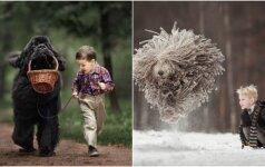 Reto grožio nuotraukos: milžiniški mažų vaikų draugai