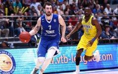 """Pirmąjį žingsnį link Eurolygos žengė """"Zenit"""" krepšininkai"""