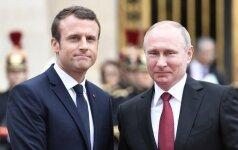 E. Macronas ir V. Putinas aptarė svarbius klausimus