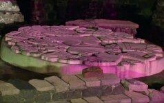 Meksiko centre eksponuojami senovės miesto actekų statinių griuvėsiai