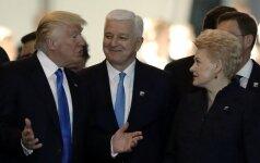 D. Trumpas ir D. Grybauskaitė
