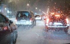 Eismo sąlygos Šiauliuose (Pagalba vairuotojams Šiauliuose nuotr.)