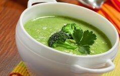 Trinta brokolių ir bulvių sriuba