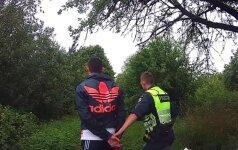 Alytaus policininkus pamatęs vyras išmetė maišelį ir dėjo į kojas