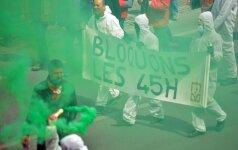 Briuselio policija panaudojo vandens patranką protesto dalyviams vaikyti