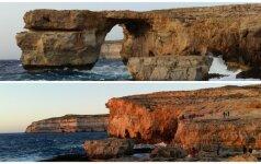 Nebeliko Azure Window Gozo saloje