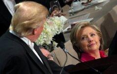 H. Clinton dėl D. Trumpo išsakytos pozicijos įžvelgė naujų grėsmių