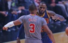 NBA arenose – L. Jameso ir D. Wade'o susitikimas bei didvyris K. Leonardas