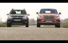 "Nepalyginama, bet palygino: ""Bentley Bentayga"" ir ""Dacia Duster"" akistata"