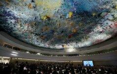 Rusiją siūloma išmesti iš JT žmogaus teisių tarybos