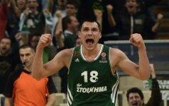 """""""Panathinaikos"""" su J. Mačiuliu neleido """"Olympiacos"""" ekipai pelnyti nė 50 taškų"""
