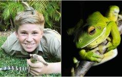Krokodilų gaudytojo sūnus seka tėvo pėdomis: jo nuotraukomis žavisi visas pasaulis