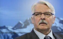 W. Waszczykowskis tikisi Vilniaus iniciatyvos gerinant Lietuvos ir Lenkijos santykius
