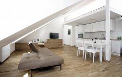 Erdvės estetika 52 kv.m skandinaviško minimalizmo bute sostinėje
