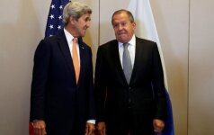 Johnas Kerry ir Sergejus Lavrovas