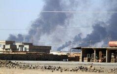 Koalicijos aviacija sunaikino IS chemijos fabriką netoli Mosulo