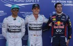 Lewisas Hamiltonas, Nico Rosbergas ir Danielis Ricciardo