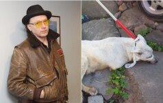 Užupio gyventojai pakraupę: dailininkas Cicėnas paliko savo šunį supūti
