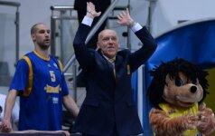 R. Kurtinaitis su auklėtiniais tęsią žygį Europos taurės turnyre, M. Kalnietis - baigė pasirodymą