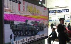 Šiaurės Korėja paleido dar vieną balistinę raketą