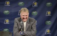 """""""Celtics"""" legenda L. Birdas švenčia 60-metį"""